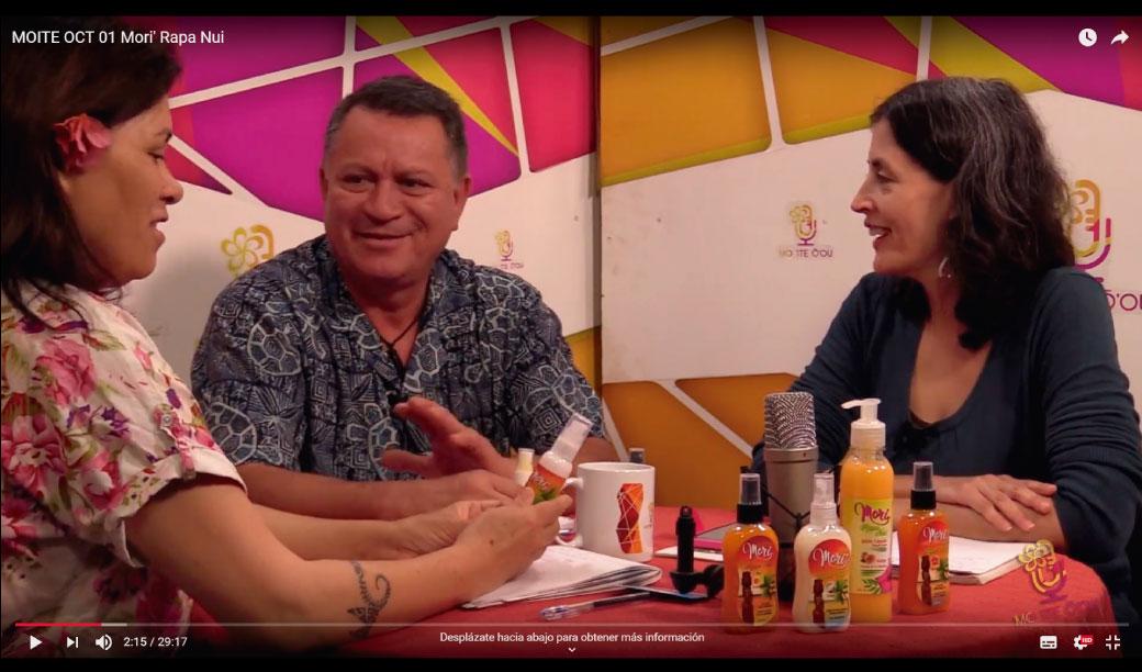 Entrevista a Keno Huki en Moite TV (Rapa Nui)
